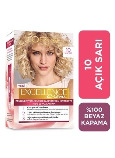 L'Oréal Paris L'Oréal Paris Excellence Creme Saç Boyası 10 Açık Sarı Renkli